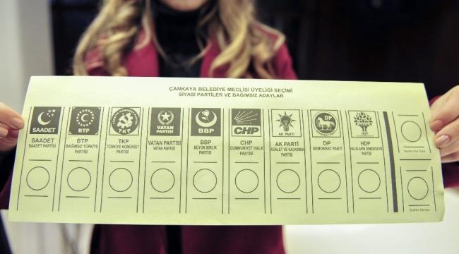 31 Mart oy pusulaları belli oldu