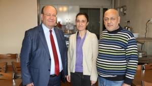 Başkan Özakcan ESKO İş Hanı esnafını ziyaret etti