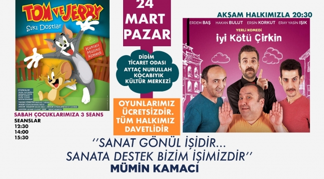KAMACI TİYATROLAR HAFTASINI UNUTMADI..