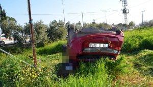 Otomobil tarlaya uçtu: 2 ölü