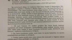 YSK 7 ilçede oy sayım durdurma kararını kaldırdı