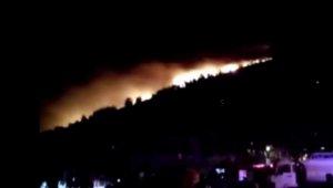 Datça'da 11 saattir devam eden yangında kasıt şüphesi