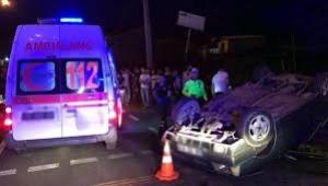 Aydın'da iki otomobil çarpıştı 6 yaralı