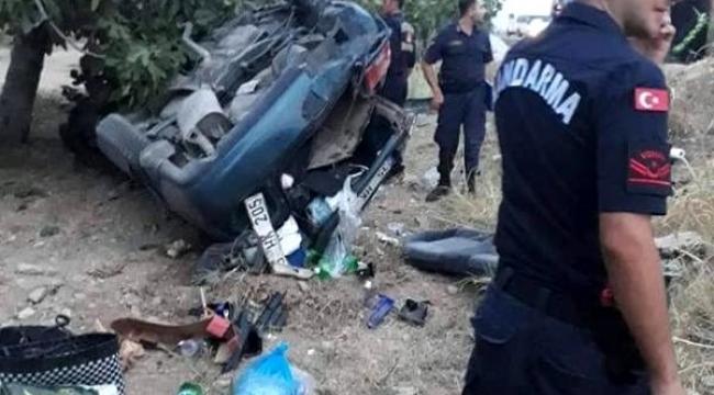 Aydın'da otomobil incir bahçesine uçtu: 6 yaralı