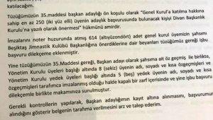 Beşiktaş'ta Ahmet Nur Çebi adaylık için listesini teslim etmek üzere kulübe geldi.