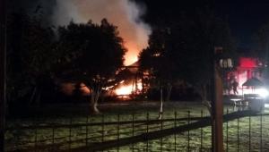 Aydın'da kır düğün salonu ve restoranı yandı