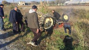 Ağır yaralanan traktör sürücüsü kurtarılmadı