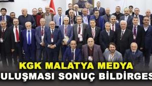 Küresel Gazeteciler Konseyi Malatya Medya Buluşması Sonuç Bildirgesi