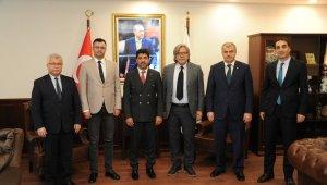Milli Eğitim Bakanlığı Danışmanlarından Rektör Aldemir'e ziyaret