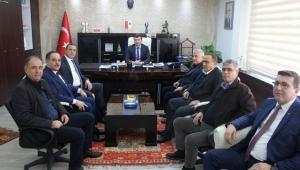 AYDIN TİCARET BORSASI'NDAN EFELER KAYMAKAMI CEMAL ŞAHİN'E ZİYARET
