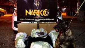 Aydın'da uyuşturucu operasyonu 5 kilo 960 gram esrar ele geçirildi..