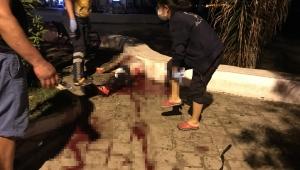 Alkollü şahıs, kanlar içinde hastaneye kaldırıldı