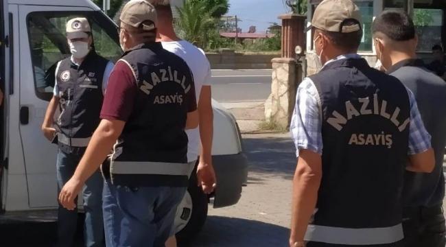 Nazilli'de 8 şahıs yakalanarak cezaevine gönderildi