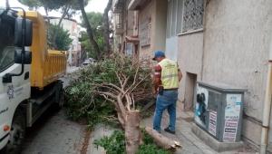 Yağış sonrası olumsuzluklara Büyükşehir ekipleri anında müdahale etti.