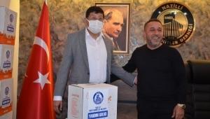 Nazilli Belediyespor'a müteahhitlerden 100 bin TL Şampiyonluk primi