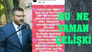 AK PARTİLİ YÖNETİCİ TARIM BAKANI'NI İSTİFAYA ÇAĞIRDI
