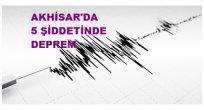 Manisa'nın Akhisar ilçesinde saat 11:26'da meydana gelen 5.0 büyüklüğünde deprem oldu